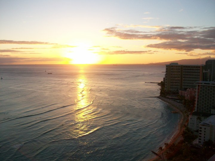 Aston Waikiki Beach Tower. Honolulu Sunset