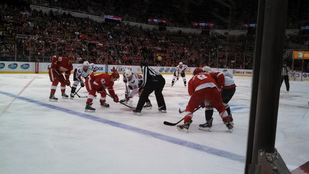 Joe Louis Arena. Seats on Glass