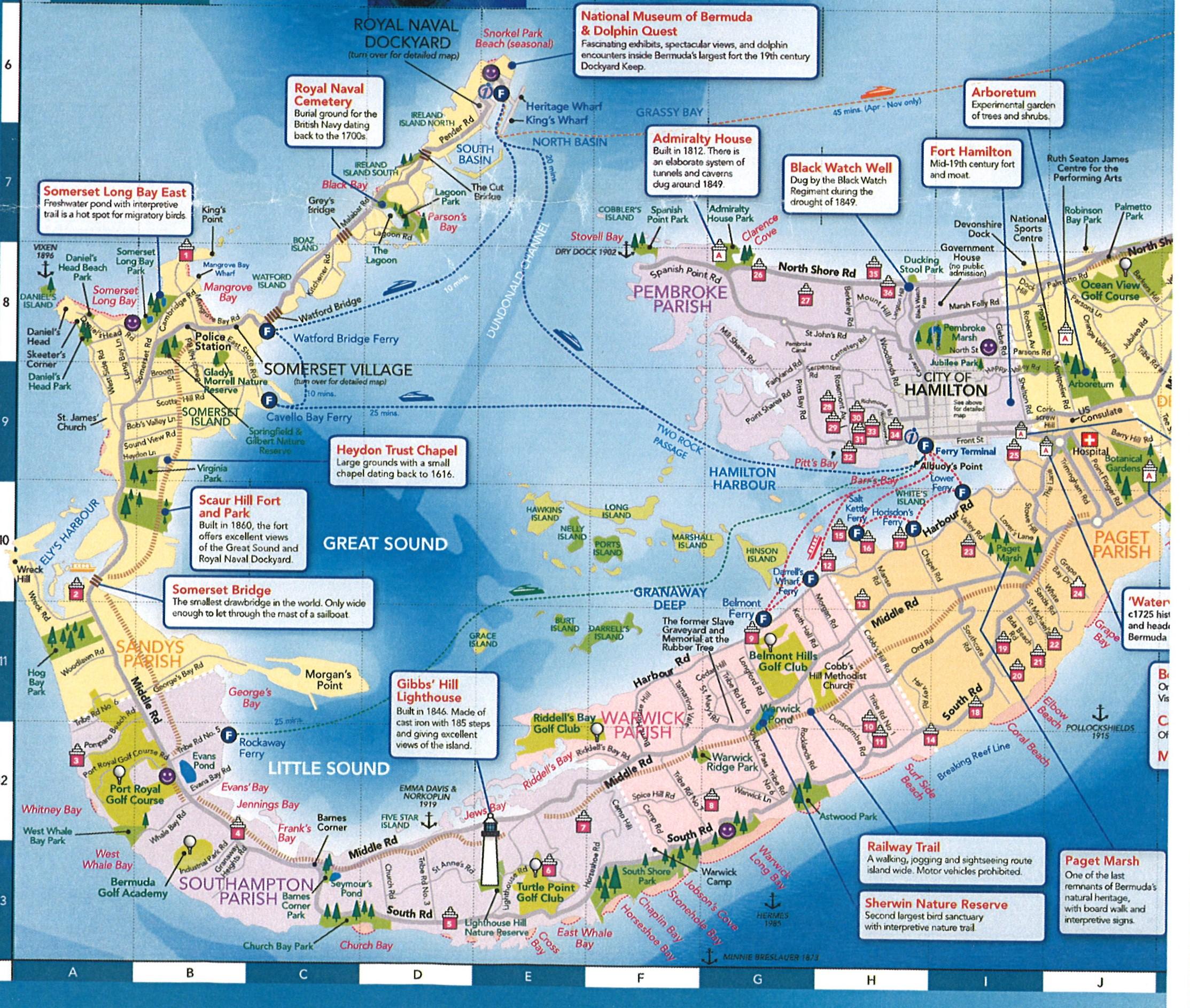 kings wharf bermuda map Bermuda Via Royal Caribbean kings wharf bermuda map